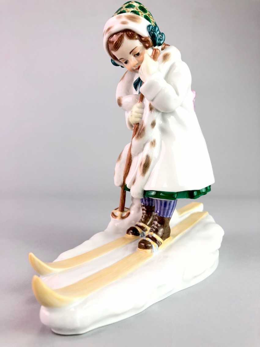 "Porcelain Figure ""Skier"". Paul Helmig. Meissen Porcelain, 1. Choice, very well. - photo 2"