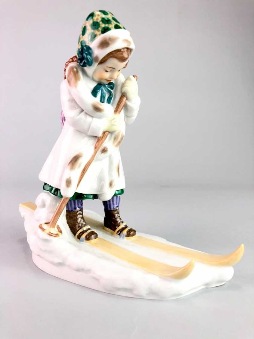 "Porcelain Figure ""Skier"". Paul Helmig. Meissen Porcelain, 1. Choice, very well. - photo 3"