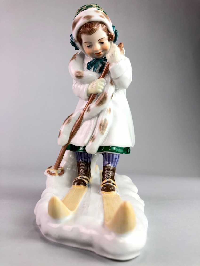 "Porcelain Figure ""Skier"". Paul Helmig. Meissen Porcelain, 1. Choice, very well. - photo 6"