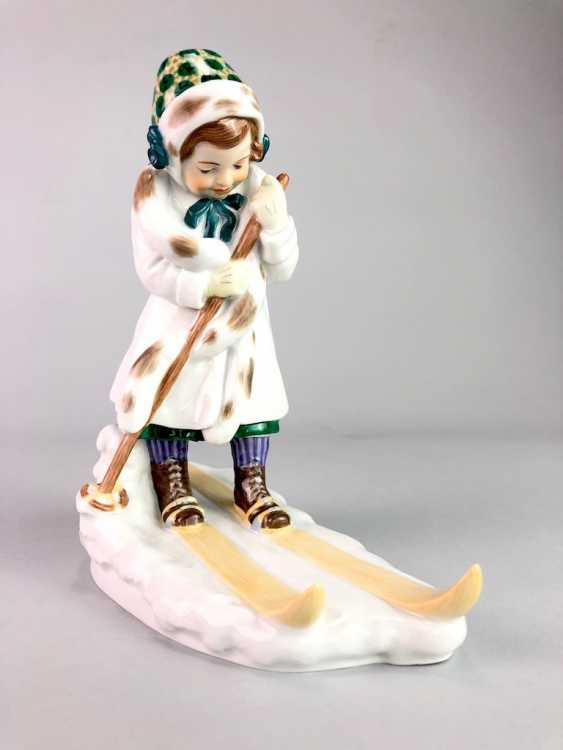 "Porcelain Figure ""Skier"". Paul Helmig. Meissen Porcelain, 1. Choice, very well. - photo 7"