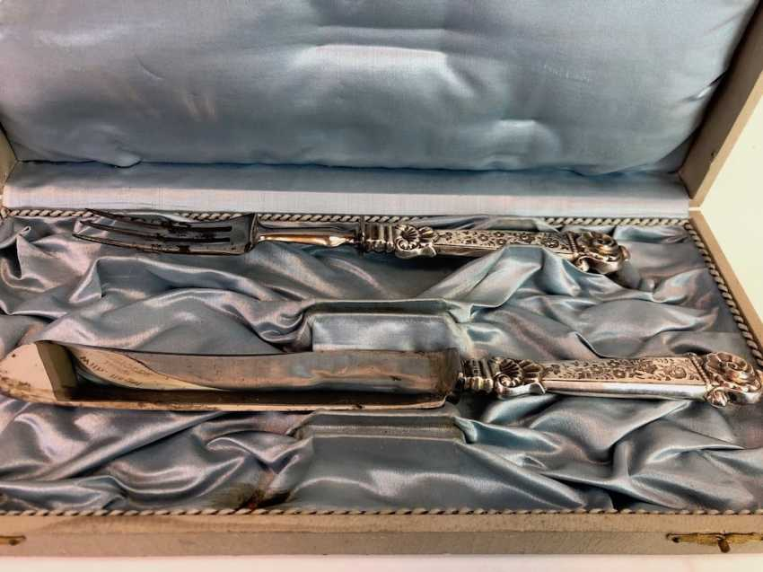 Elaborate Cutlery, Silver 800, Historicism, The End Of The 19th Century. Century, Very beautiful. - photo 3