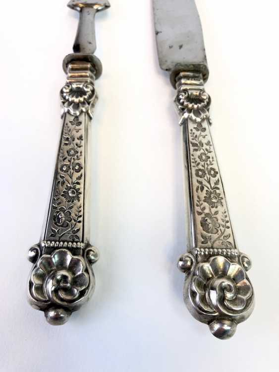 Elaborate Cutlery, Silver 800, Historicism, The End Of The 19th Century. Century, Very beautiful. - photo 5