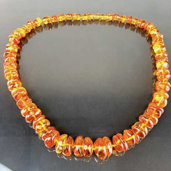 Extraordinary amber necklace: Baltic amber in the best quality. - photo 1