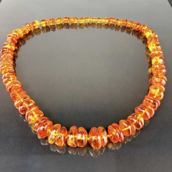 Extraordinary amber necklace: Baltic amber in the best quality. - photo 2