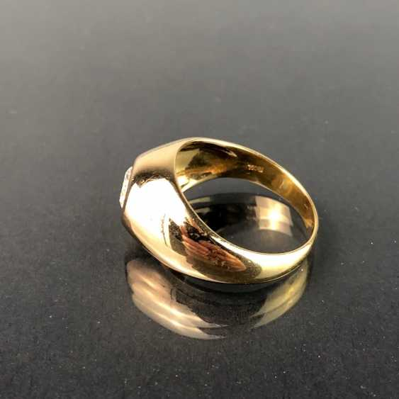 Opulent Ring with a large stone. Yellow gold 585. - photo 2