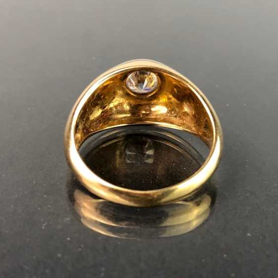 Opulent Ring with a large stone. Yellow gold 585. - photo 3