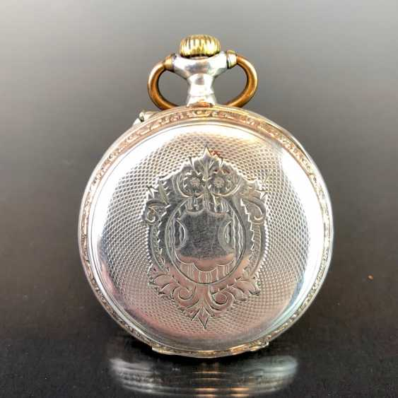 Mens Pocket Watch: Silver. Fine art Nouveau 1900 engraved. - photo 1