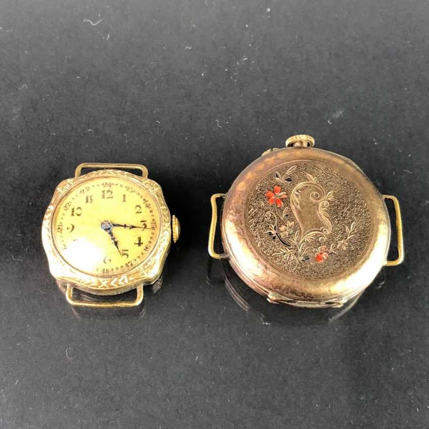 Two Ladies Wrist Watches, Art Nouveau. A watch claw / bracelet for the watch. Gold Doublée, very nice. - photo 1