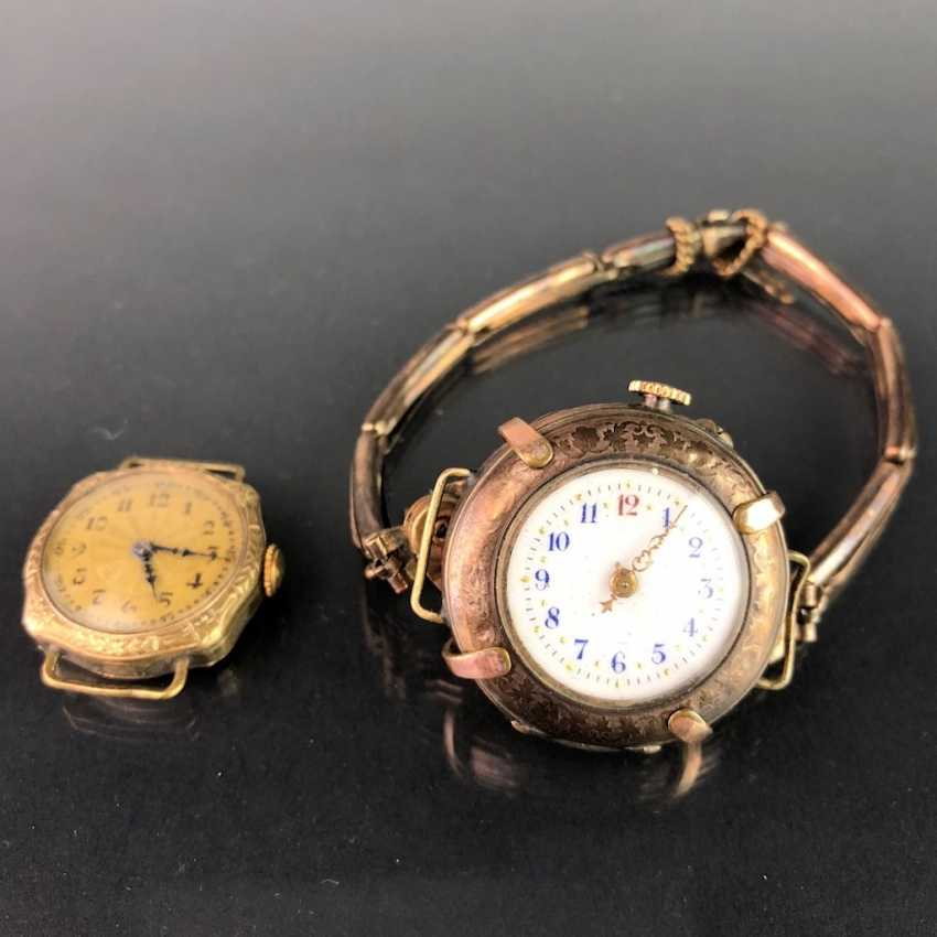 Two Ladies Wrist Watches, Art Nouveau. A watch claw / bracelet for the watch. Gold Doublée, very nice. - photo 2