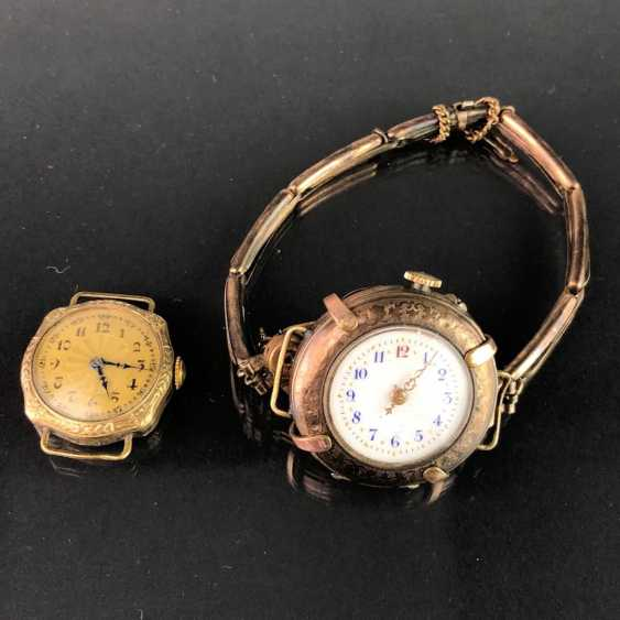 Two Ladies Wrist Watches, Art Nouveau. A watch claw / bracelet for the watch. Gold Doublée, very nice. - photo 3