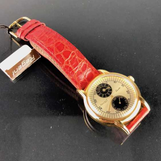 """Мужские наручные часы: """"РЕГЕНТ Para"""". Сильный кожаный браслет позолоченный. Непоношенный из часовщиков наследстве. Совершенно. - фото 2"""