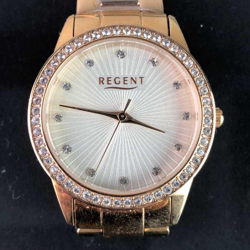 """Watch: """"REGENT"""". Gold plated. Mineral glass. Unworn, from a watchmaker's estate. Perfectly. - photo 1"""