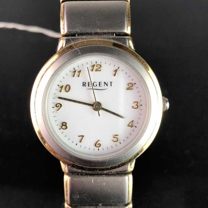 """Watch: """"REGENT"""". Stainless steel bicolor, mineral glass. Unworn, from a watchmaker's estate. Perfectly. - photo 1"""