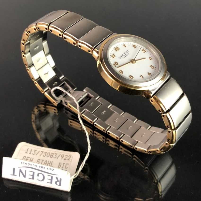 """Watch: """"REGENT"""". Stainless steel bicolor, mineral glass. Unworn, from a watchmaker's estate. Perfectly. - photo 2"""
