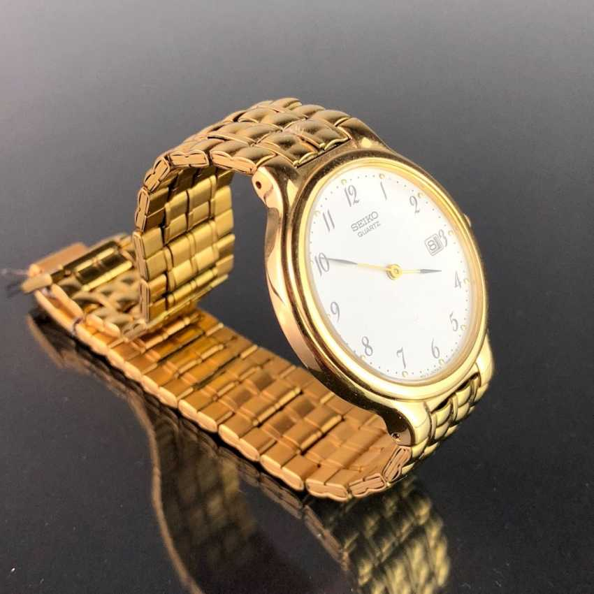 "Watch: ""SEIKO"". Heavily gold plated. Mineral glass. Unworn, from a watchmaker's estate. Perfectly. - photo 1"