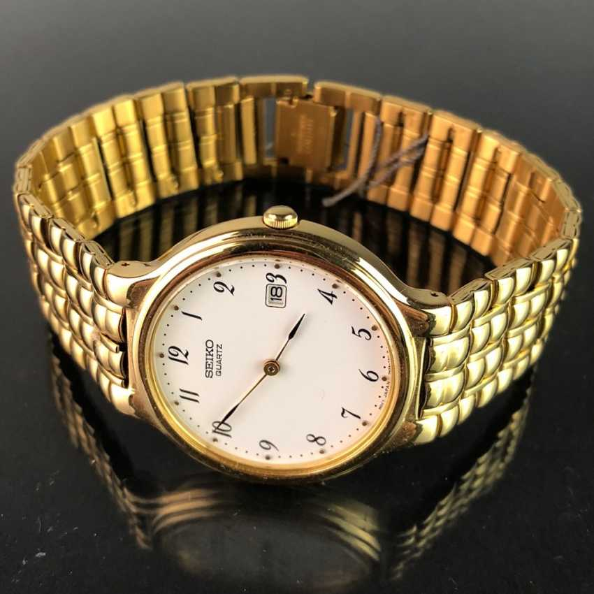 "Watch: ""SEIKO"". Heavily gold plated. Mineral glass. Unworn, from a watchmaker's estate. Perfectly. - photo 2"