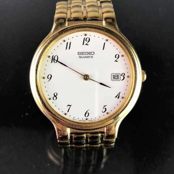 "Watch: ""SEIKO"". Heavily gold plated. Mineral glass. Unworn, from a watchmaker's estate. Perfectly. - photo 3"
