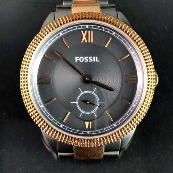 """Наручные часы: """"FOSSIL"""". Нержавеющая сталь матовая и двухцветная. Минеральное стекло. Непоношенный из часовщиков наследстве. Совершенно. - фото 1"""
