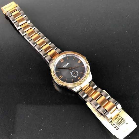"""Наручные часы: """"FOSSIL"""". Нержавеющая сталь матовая и двухцветная. Минеральное стекло. Непоношенный из часовщиков наследстве. Совершенно. - фото 2"""