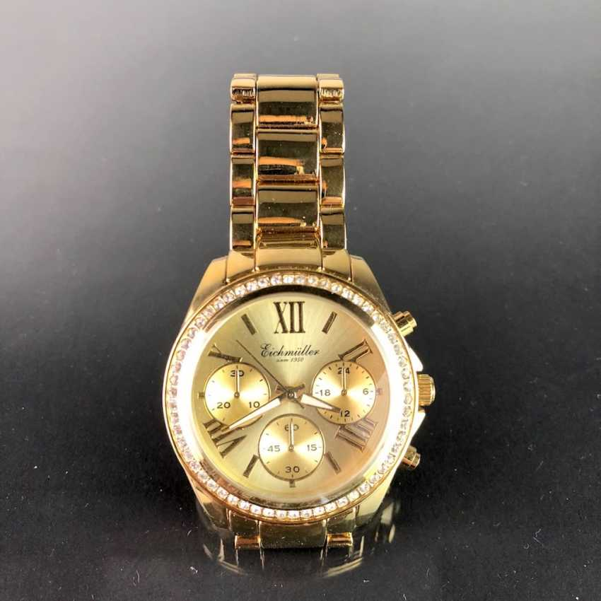 """Watch: """"Eichmüller"""". Gold plated. Mineral glass. Unworn, from a watchmaker's estate. Perfectly. - photo 3"""