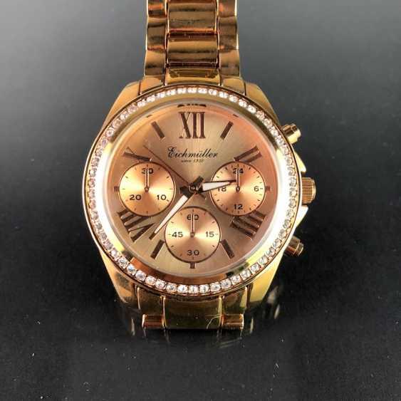 """Armbanduhr: """"Eichmüller"""". Vergoldet. Mineralglas. Ungetragen aus Uhrmachernachlaß. Tadellos. - Foto 1"""