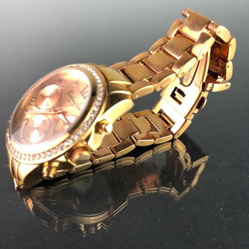 """Armbanduhr: """"Eichmüller"""". Vergoldet. Mineralglas. Ungetragen aus Uhrmachernachlaß. Tadellos. - Foto 2"""
