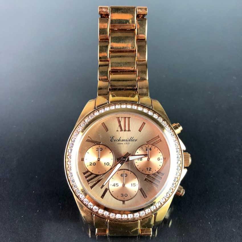 """Armbanduhr: """"Eichmüller"""". Vergoldet. Mineralglas. Ungetragen aus Uhrmachernachlaß. Tadellos. - Foto 3"""