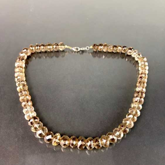 Elegant Necklace: Faceted Gold Topaz. - photo 1