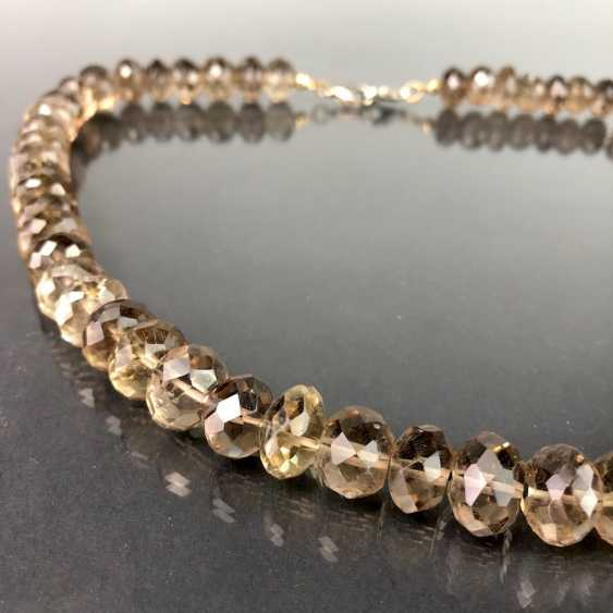 Elegant Necklace: Faceted Gold Topaz. - photo 2