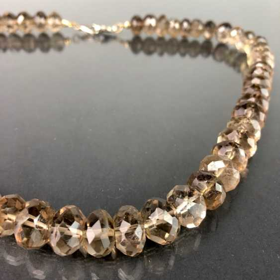 Elegant Necklace: Faceted Gold Topaz. - photo 3
