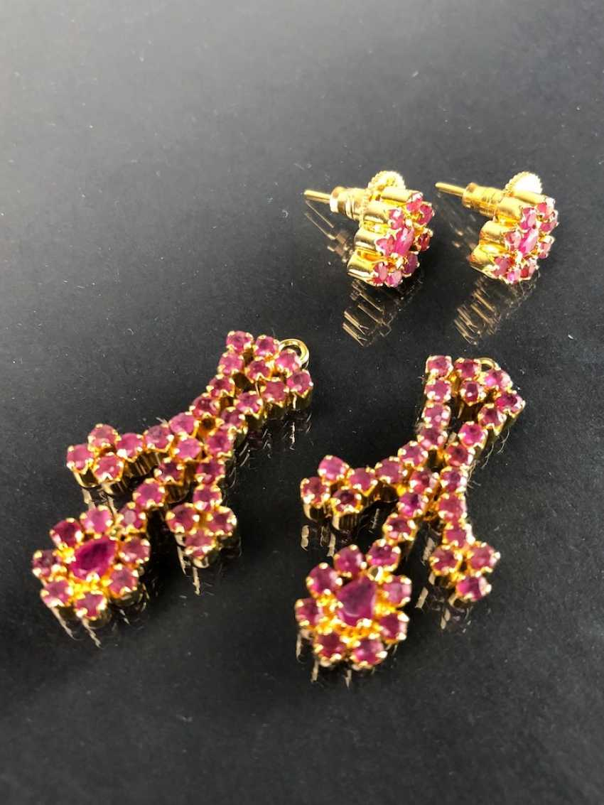 Exceptional necklace and earrings with rubies - photo 7