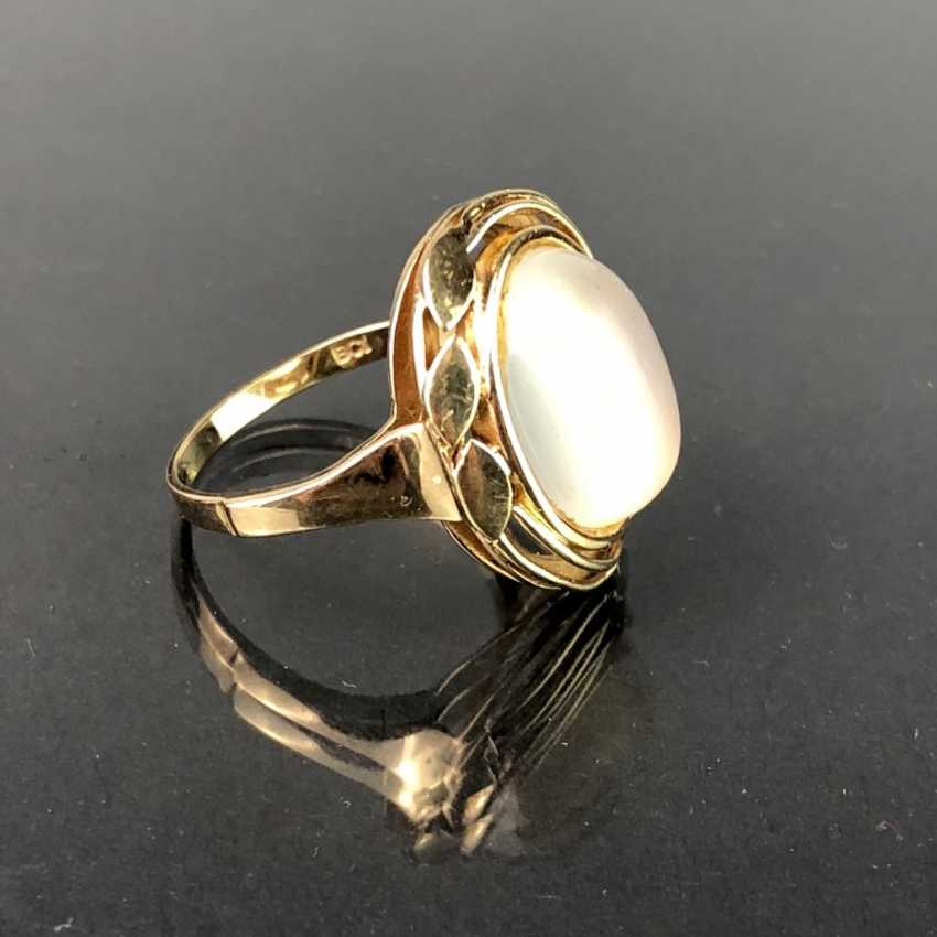 Ladies ' ring with moon stone. Yellow gold 375. - photo 1