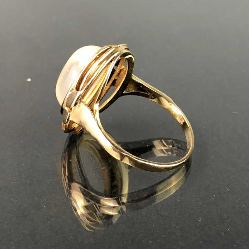 Ladies ' ring with moon stone. Yellow gold 375. - photo 2
