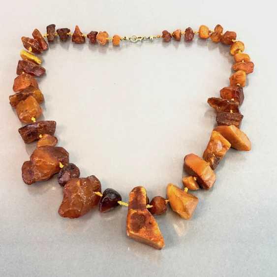 Ambre-Collier: ambre naturel de la Taille disposés, de style Art-Déco vers 1930, très agréable. - photo 1