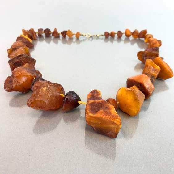 Ambre-Collier: ambre naturel de la Taille disposés, de style Art-Déco vers 1930, très agréable. - photo 4