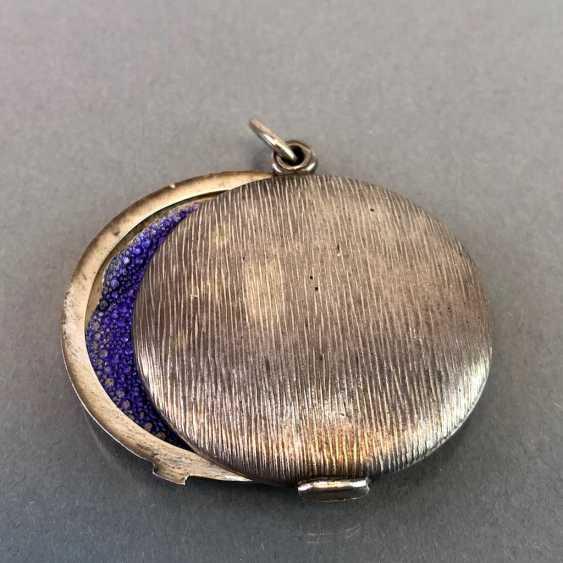 Медальон-Кулон, Серебро, Арт-Деко. - фото 1