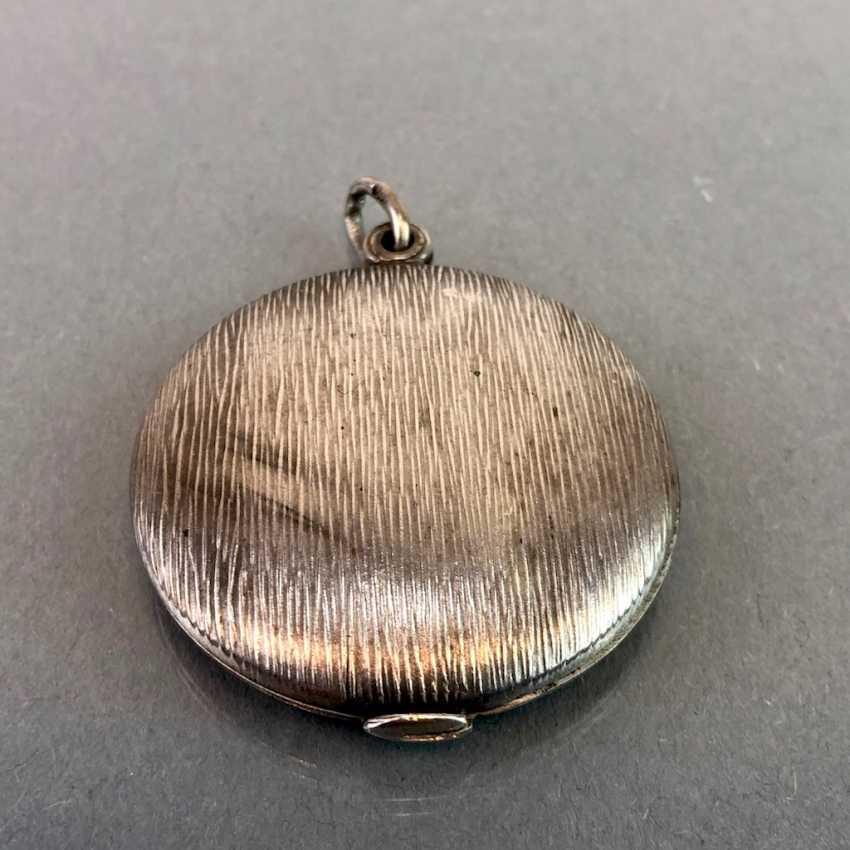Медальон-Кулон, Серебро, Арт-Деко. - фото 2