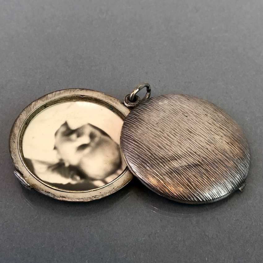 Медальон-Кулон, Серебро, Арт-Деко. - фото 3