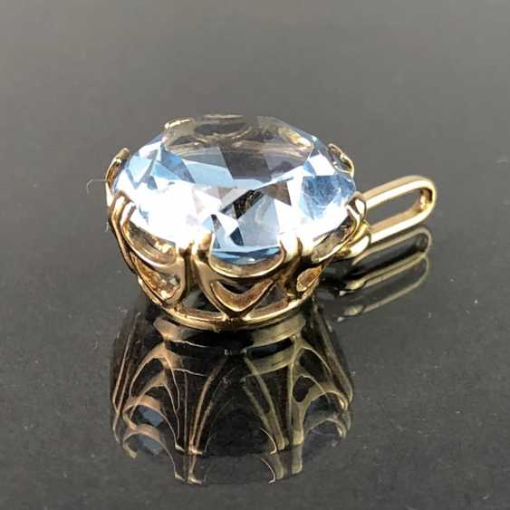 Pendant with Topaz. Yellow gold 333. - photo 1