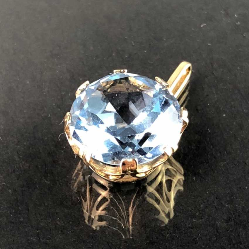 Pendant with Topaz. Yellow gold 333. - photo 3