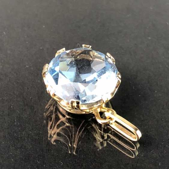 Pendant with Topaz. Yellow gold 333. - photo 4
