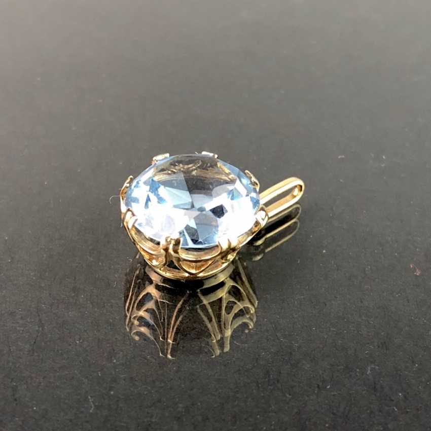 Pendant with Topaz. Yellow gold 333. - photo 5