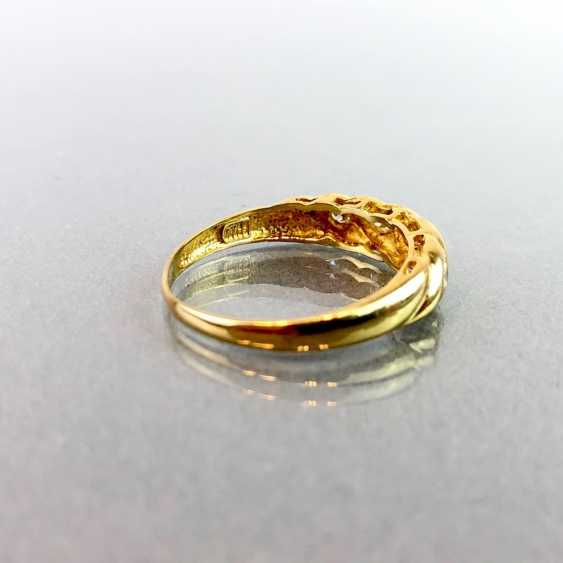 Lady's ring with five diamonds. Yellow gold 750. - photo 3