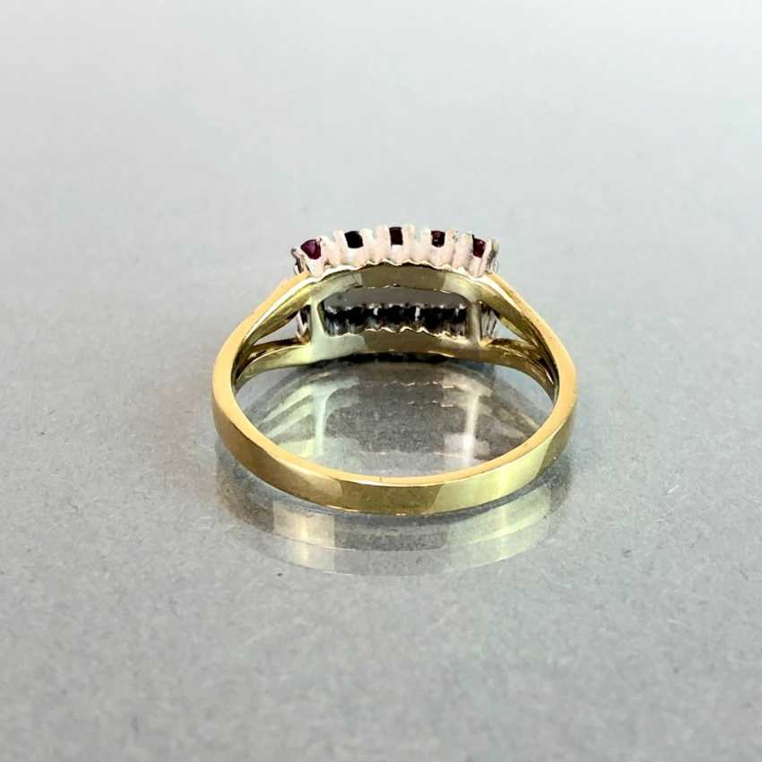 Elegant ladies ring with ruby and diamonds. Yellow Gold / White Gold 585. - photo 6