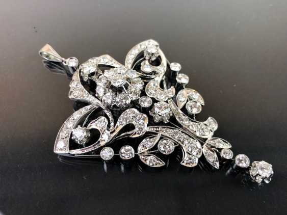 Sensational necklace pendant: white gold rhodium plated. 10 carat brilliant-67 stones of very good quality. - photo 10