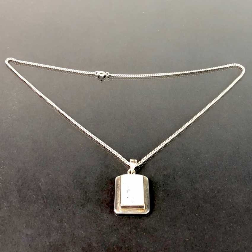Pendant with moon stone. To Do This, Chain. Both Are Silver. - photo 3
