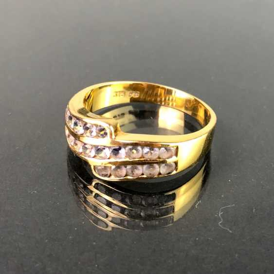 Ladies ring with Safiren. Yellow gold 375. Very nice. - photo 3
