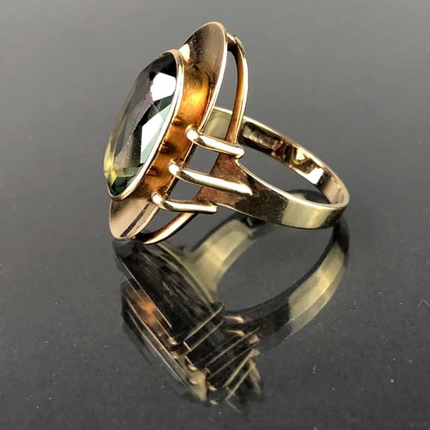 Ladies ring with spinel. Yellow gold 333. Very nice. - photo 1