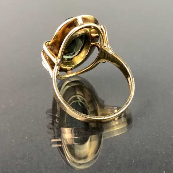 Ladies ring with spinel. Yellow gold 333. Very nice. - photo 2