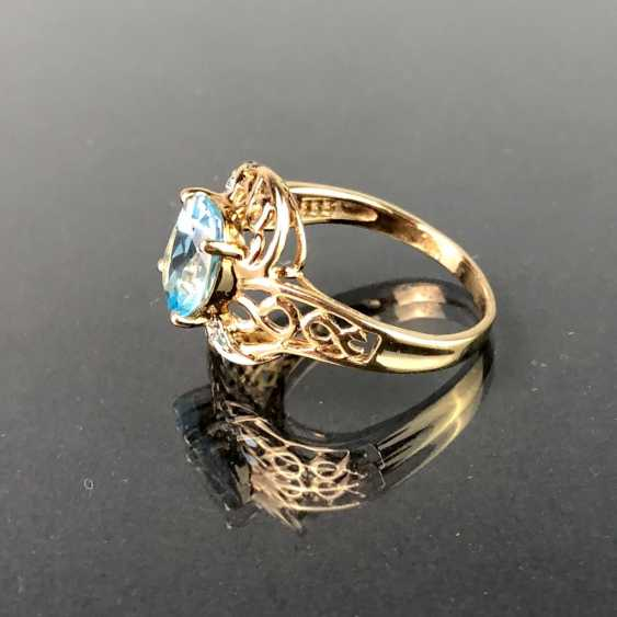 Ladies ring with Topaz of approx. 3 carats. Yellow gold 333. Very nice. - photo 2